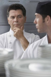 Chef wondering about cook